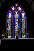 Holy Trinity Church Window Pakaraka — Stock Photo