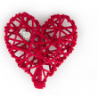 Heart Ring in a Woven Heart — Stock Photo