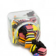 Licorice Allsorts in Jar from front — Stock Photo #41288419