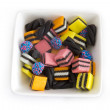 Licorice Allsorts in Plate — Stock Photo #41288439