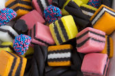 Close up Licorice Allsorts — Stock Photo