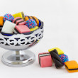Licorice Allsorts in Bowl — Stock Photo #41703203