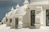 White cupolas on a cathedral — Stock Photo
