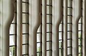 Symmetrical window wall — Zdjęcie stockowe