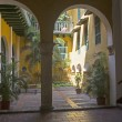 Стоковое фото: Small courtyard in Cartagena