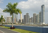Partial view of Panama City skyscrapers — Stock Photo