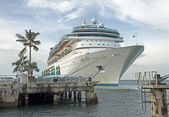 Cruiseship docked in a  Florida harbor — Stock Photo