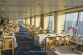 Dining area on a cruiseship — Stock Photo