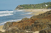 Secluded Pacific Ocean beach — Stock Photo