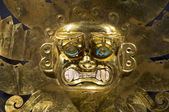Ancient Peruvian gold ornament — Stock Photo