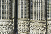 Detail of neoclassical columns — Stock Photo