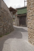 Walkway in a Galician village — Stock Photo