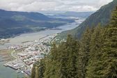 Juneau viewed from Mount Roberts — Stock Photo