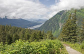 Scenic trail in Juneau Alaska — Stock Photo