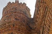 Detail of ancient brickwork fountain — Foto Stock
