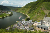Mosel valley, villages of Beilstein and Ellenz, Germany — Stock Photo