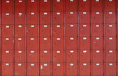 Red old mail boxes — Stock Photo