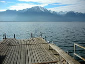 Lakefront in Montreux - Switzerland — Stock Photo