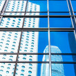 Stock Photo: Commercial building windows closeup