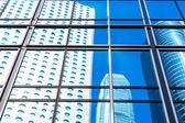 Commercial building windows closeup — Stock Photo