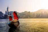 Weergave van hong kong victoria harbor — Stockfoto
