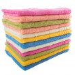 Stack of colorful towels  isolated on a white background — Stock Photo #45114437