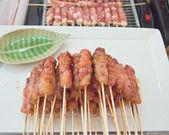 Grilled pork sticks — Stock Photo