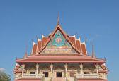 Thai Buddhist temple monastery in Samutprakarn, Thailand — Stock Photo