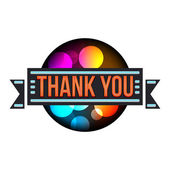 Glowing neon sign Thank You — Stock Vector