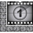 Stock Vector: Film countdown