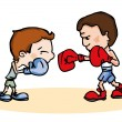 Постер, плакат: Fighting boxers