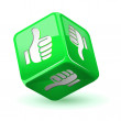 Dice thumb up icon. Green — Stock Vector #40850947