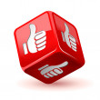 Dice thumb up icon — Stock Vector #40850951