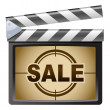 Film Clapboard. Sale — Stock Vector #40851017