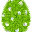 Happy Easter. Grass egg symbol — Vecteur
