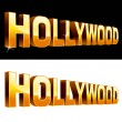 Hollywood — Stock Vector
