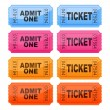 Vector illustration of coloured tickets — Stock Vector #40852203