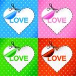 Valentine's day card. Heart. Sticker — Stock Vector