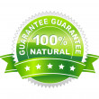 Vector illustration of label natural — Stock Vector