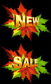 Autumn New. Sale — Stock Vector