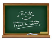 Blackboard. Back to school — Stock Vector
