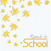 Back to school. Autumn leaf fall. — Stok Vektör