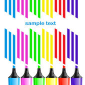 Coloured markers — Stock Vector