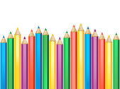 Pencil in row — Vector de stock