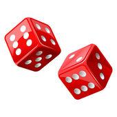 Vector illustration of dice — Stock Vector