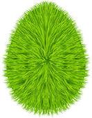 çimen yumurta sembolü. mutlu paskalya — Stok Vektör