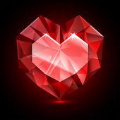 Diamant de forme de coeur — Vecteur