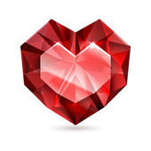 Heart shape diamond. — Stock Vector