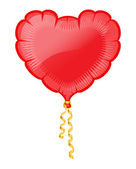 Vector illustration of heart red balloon — Stock Vector
