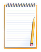 Notebook with pencil — Vettoriale Stock